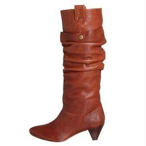 Frye Jenny Double Leather Boots Size 7